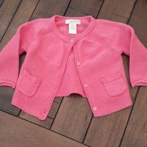 Hot pink sweater cardigan 6 mo EUC
